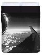 Jet Pop Art Plane Black And White  Duvet Cover