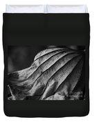 Black And White Lotus Leaf Duvet Cover