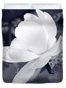 Black And White Lotus Duvet Cover