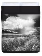 Black And White Meadow Duvet Cover