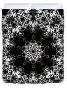 Black And White Medallion 1 Duvet Cover