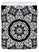 Black And White Medallion 10 Duvet Cover