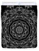 Black And White Medallion 2 Duvet Cover