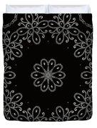 Black And White Medallion 4 Duvet Cover