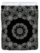 Black And White Medallion 6 Duvet Cover