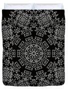 Black And White Medallion 7 Duvet Cover