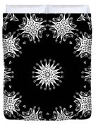Black And White Medallion 9 Duvet Cover