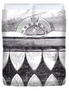 Black And White Mercury Duvet Cover