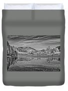 Black And White Photo Of Long Pond Acadia National Park Maine Duvet Cover