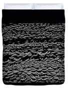 Black And White Rope Stack Duvet Cover