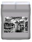 Scotney Castle In Mono Duvet Cover