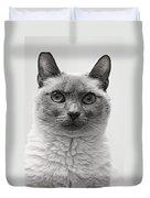 Black And White Siamese Cat Duvet Cover