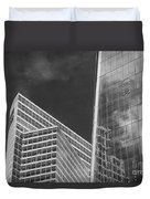 Black And White Skyscrapers Duvet Cover