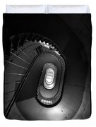 Black And White Spiral Staircaise Duvet Cover