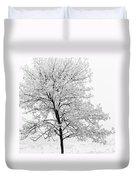 Black And White Square Tree  Duvet Cover