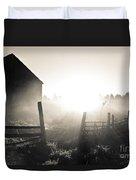 Black And White Sunrise Duvet Cover