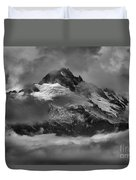 Black And White Tantalus Storms Duvet Cover