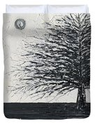 Black And White Snow Cold Winter Tree Duvet Cover