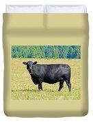 Black Angus Cattle Duvet Cover