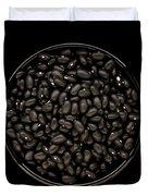 Black Beans In Bowl Duvet Cover