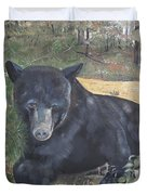 Black Bear - Wildlife Art -scruffy Duvet Cover