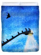 Black Birds Duvet Cover
