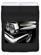 Black Bonneville Duvet Cover
