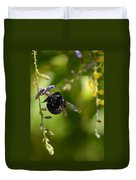 Black Bumblebee Duvet Cover