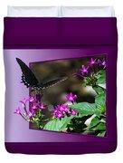 Black Butterfly 07 Duvet Cover