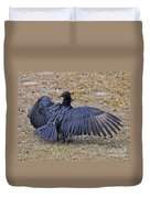 Black Buzzard Back Duvet Cover