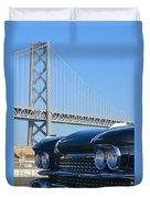 Black Cadillac In San Francisco Duvet Cover