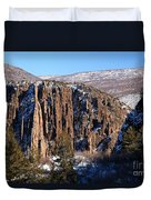 Black Canyon Butte Duvet Cover