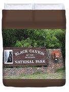 Black Canyon Of The Gunnison National Park Duvet Cover