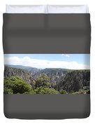Black Canyon Of The Gunnison Panorama Duvet Cover