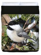 Black-capped Chickadee 9527 Duvet Cover