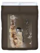 Black-capped Chickadee In Winter Duvet Cover by Mircea Costina Photography