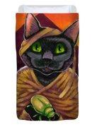 Black Cat Mummy Monster Duvet Cover