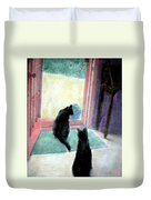 Black Cats Duvet Cover