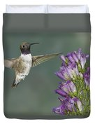 Black Chinned Hummingbird 2 Duvet Cover