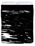 Black Cinders In Winter Duvet Cover
