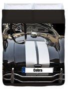 Black Cn Cobra Classic Car Duvet Cover