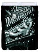Black Cobra - Ford Cobra Engines Duvet Cover