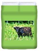 Black Cow Duvet Cover