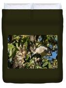Black-crowned Heron Looking For Nesting Material Duvet Cover