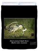 Black-crowned Night Heron At Martin Lake Duvet Cover
