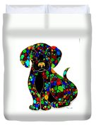 Black Dog 2 Duvet Cover