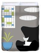 Black Egg Chair Duvet Cover