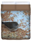 Black Eyed Junco Duvet Cover