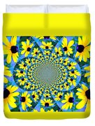 Black Eyed Susan Kaleidoscope Duvet Cover