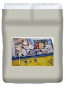 Black Family Reunion Mural Duvet Cover